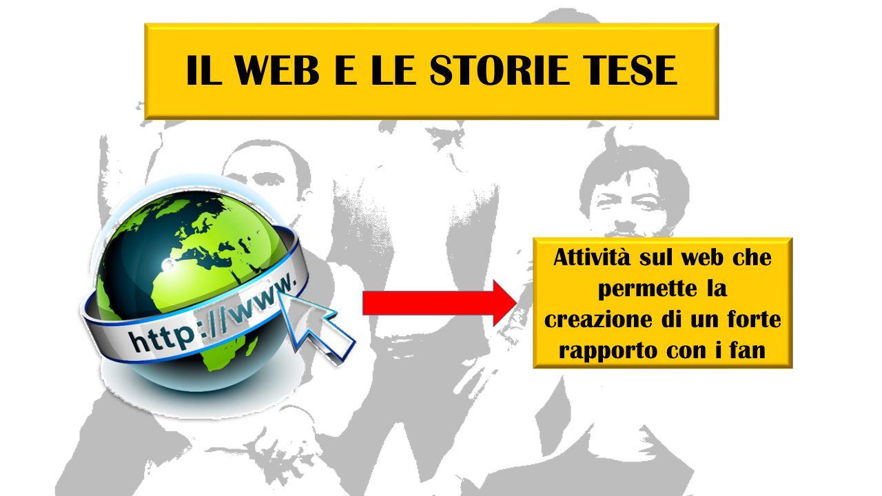 IL WEB E LE STORIE TESE Attività sul web che permette la creazione di un forte rapporto con i fan