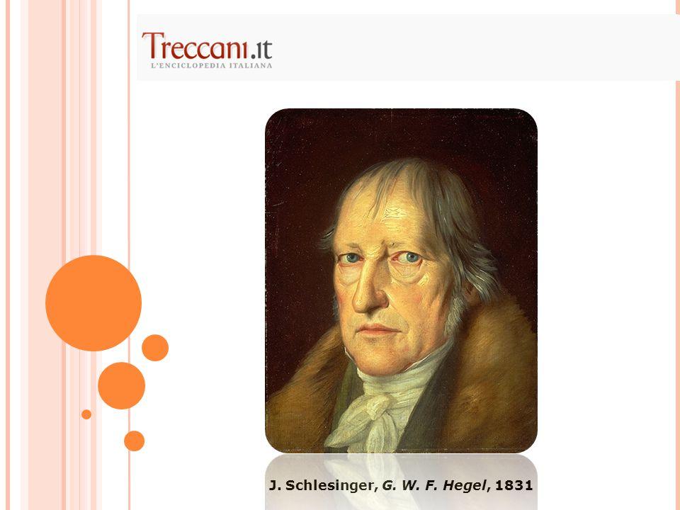 J. Schlesinger, G. W. F. Hegel, 1831