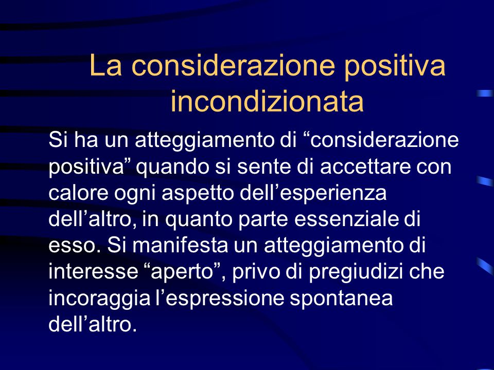Non-direttività L'intervento non-direttivo non equivale al non esercitare alcun influsso sull'utente L'atteggiamento non-direttivo non corrisponde a q
