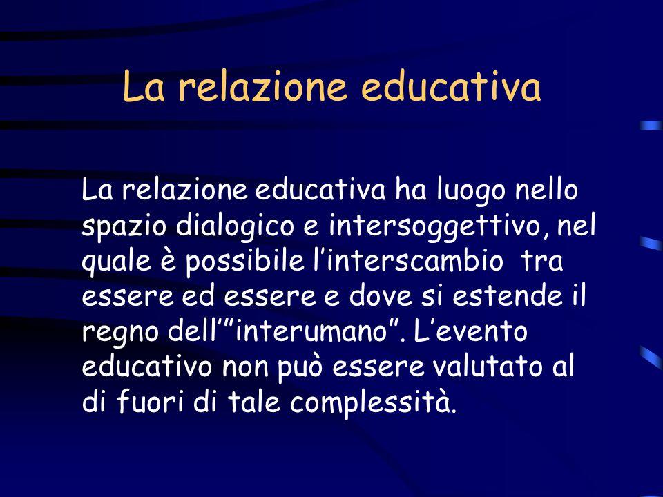 Educazione e relazione Ogni processo di crescita e di cambiamento può realizzarsi solo se i bambini hanno la possibilità di instaurare relazioni inter