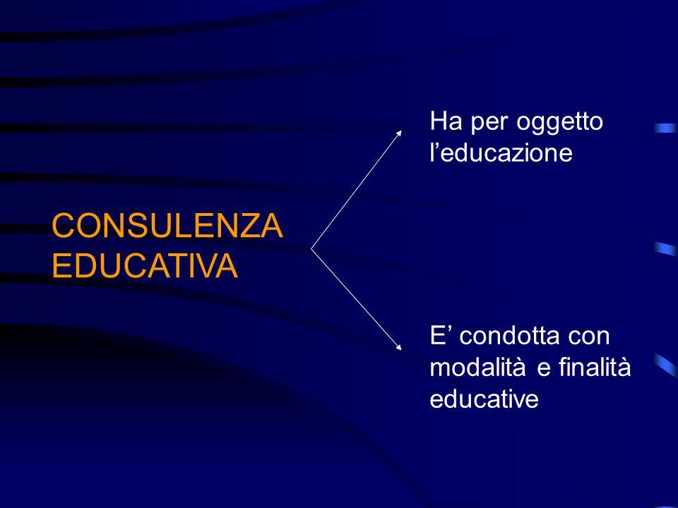 La consulenza educativa Mira al superamento delle difficoltà che la persona incontra nel proprio cammino di crescita e di sviluppo, aumentando la sua