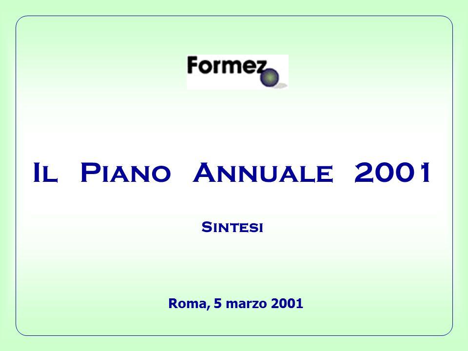 Il Piano Annuale 2001 Roma, 5 marzo 2001 Sintesi