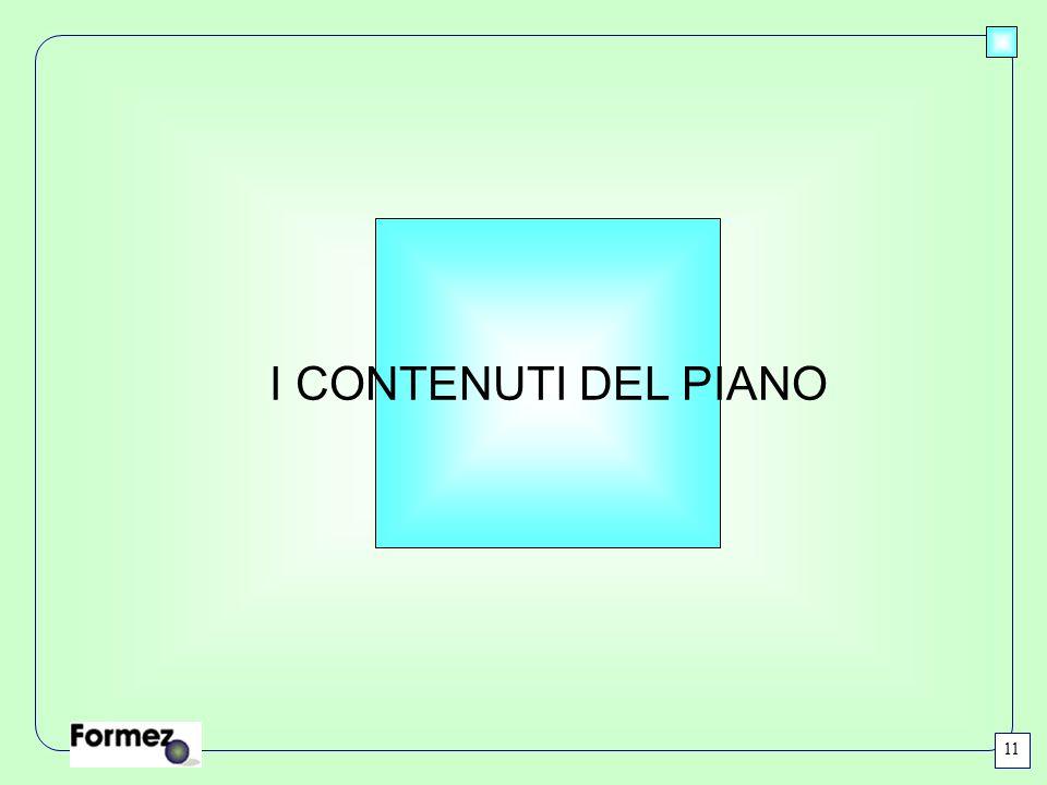 I CONTENUTI DEL PIANO 11
