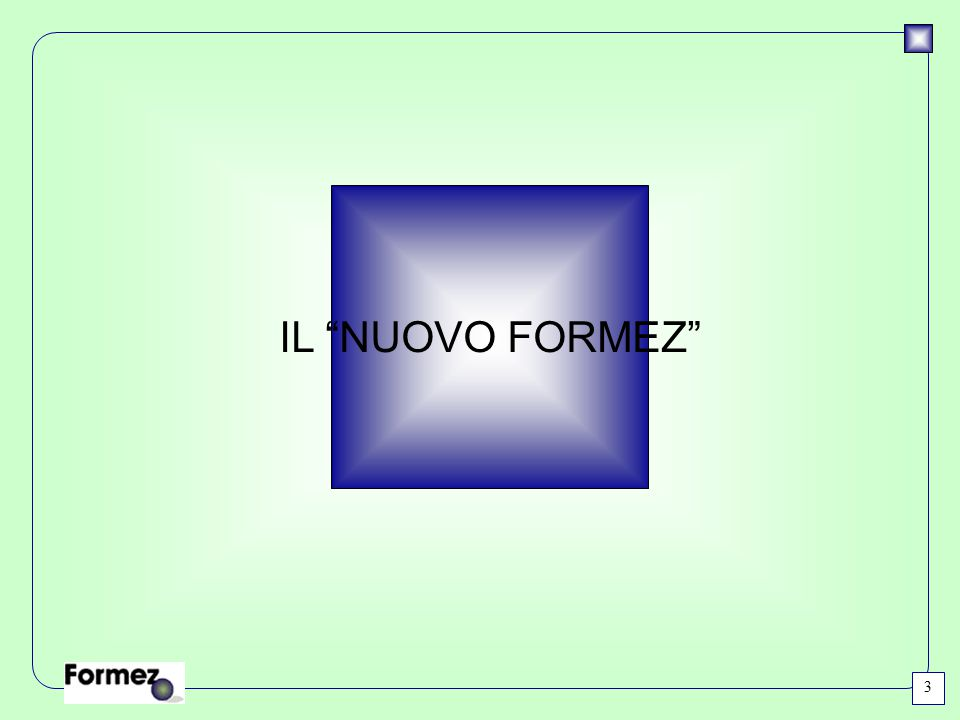 """IL """"NUOVO FORMEZ"""" 3"""