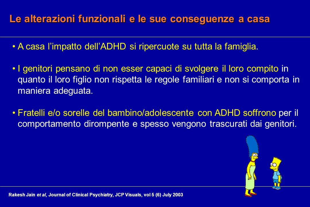 Le alterazioni funzionali e le sue conseguenze a casa A casa l'impatto dell'ADHD si ripercuote su tutta la famiglia.