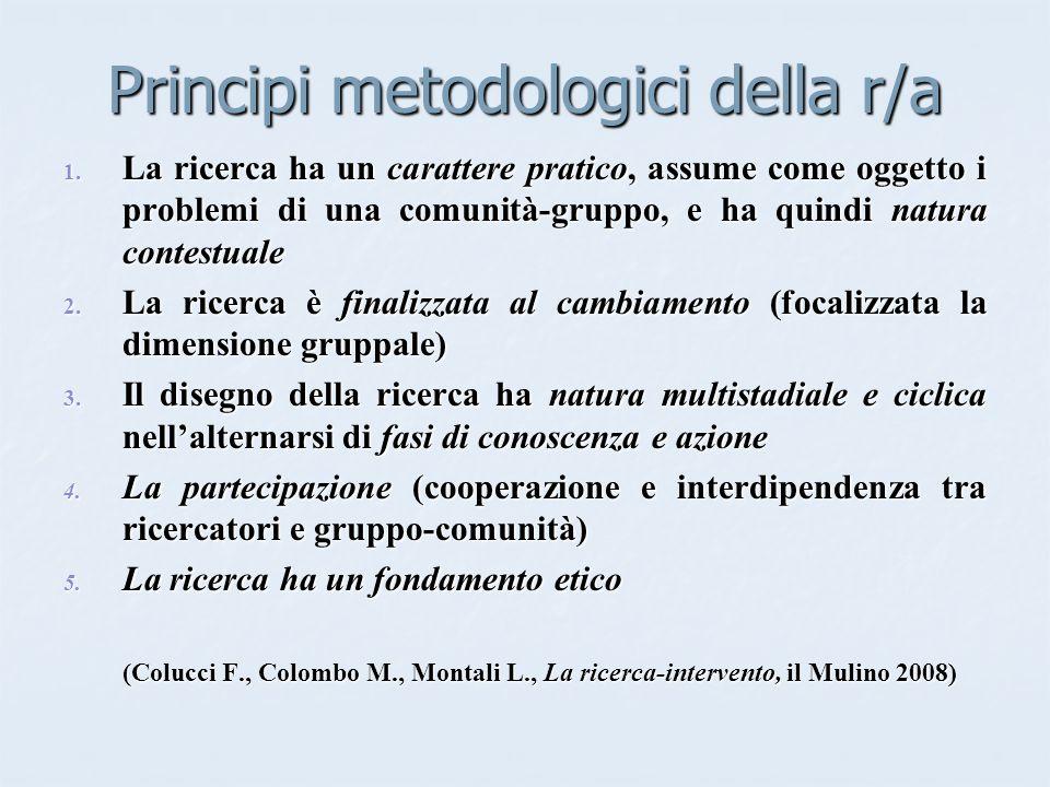 Principi metodologici della r/a 1.