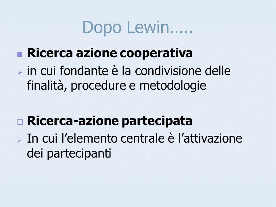 Dopo Lewin…..
