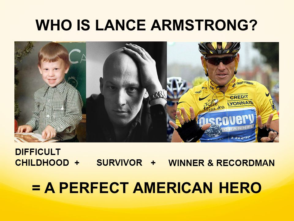 WINNER & RECORDMAN DIFFICULT CHILDHOOD + SURVIVOR + WHO IS LANCE ARMSTRONG.