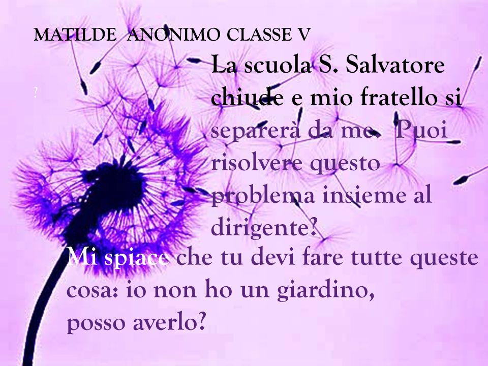 MATILDE ANONIMO CLASSE V .