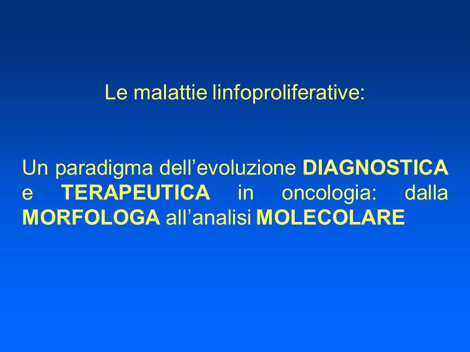Le malattie linfoproliferative: Un paradigma dell'evoluzione DIAGNOSTICA e TERAPEUTICA in oncologia: dalla MORFOLOGA all'analisi MOLECOLARE