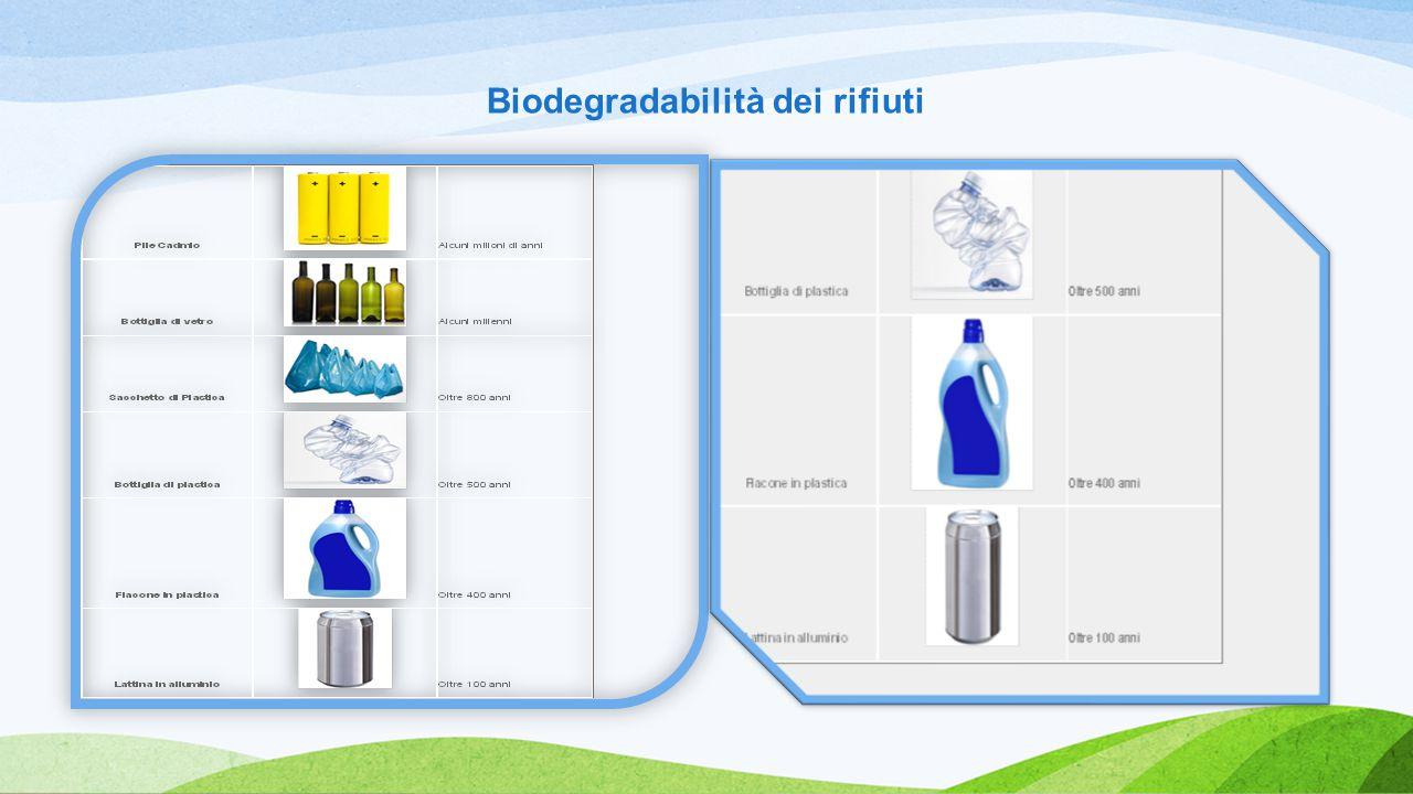 Biodegradabilità dei rifiuti