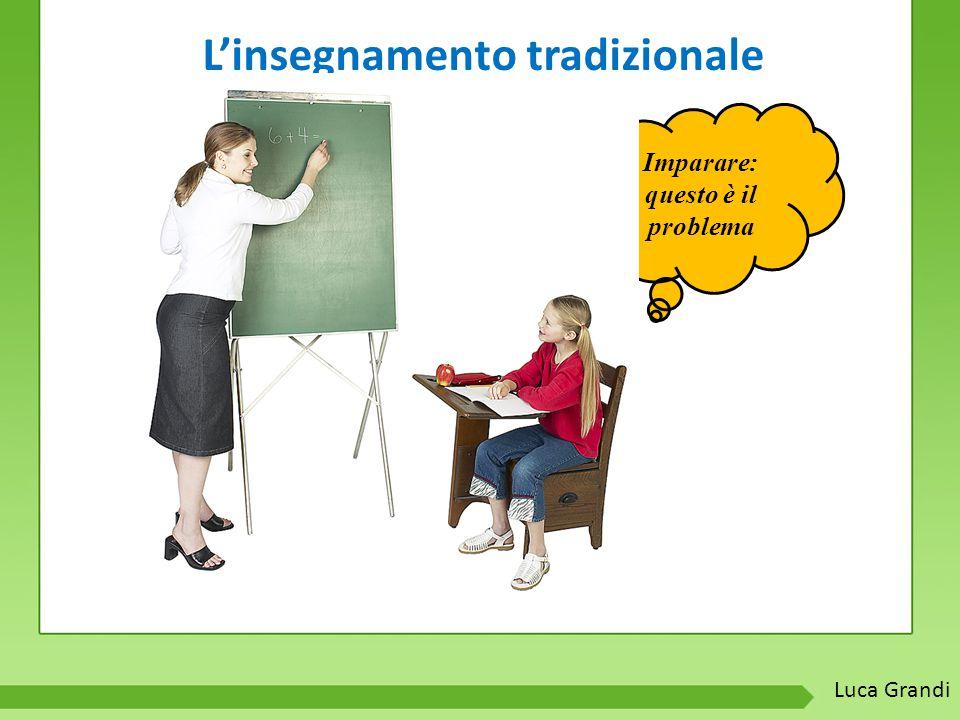 L'insegnamento tradizionale Imparare: questo è il problema Luca Grandi