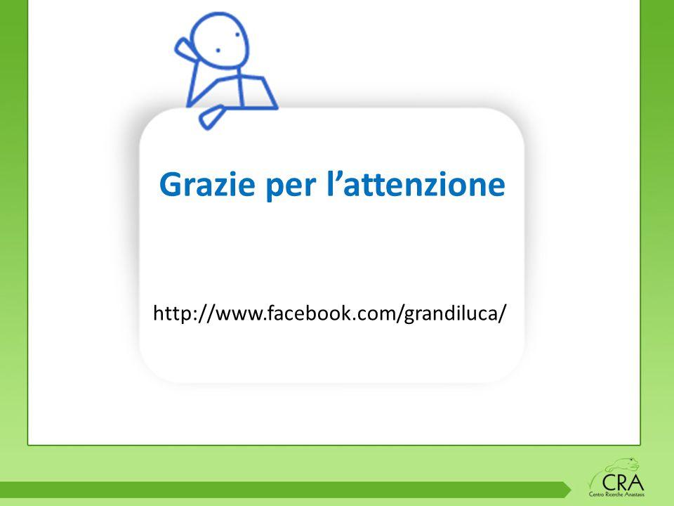 Grazie per l'attenzione http://www.facebook.com/grandiluca/