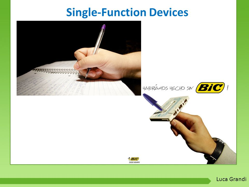 Single-Function Devices Luca Grandi