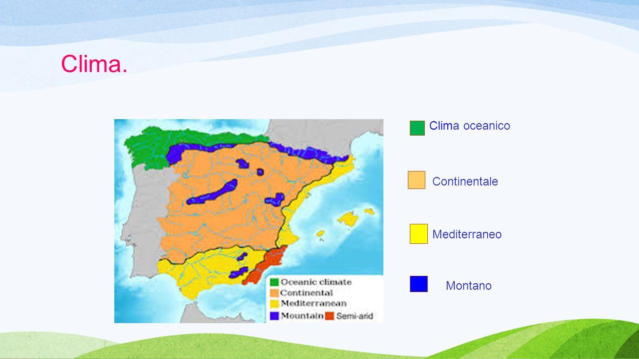 Clima. Clima oceanico Continentale Mediterraneo Montano