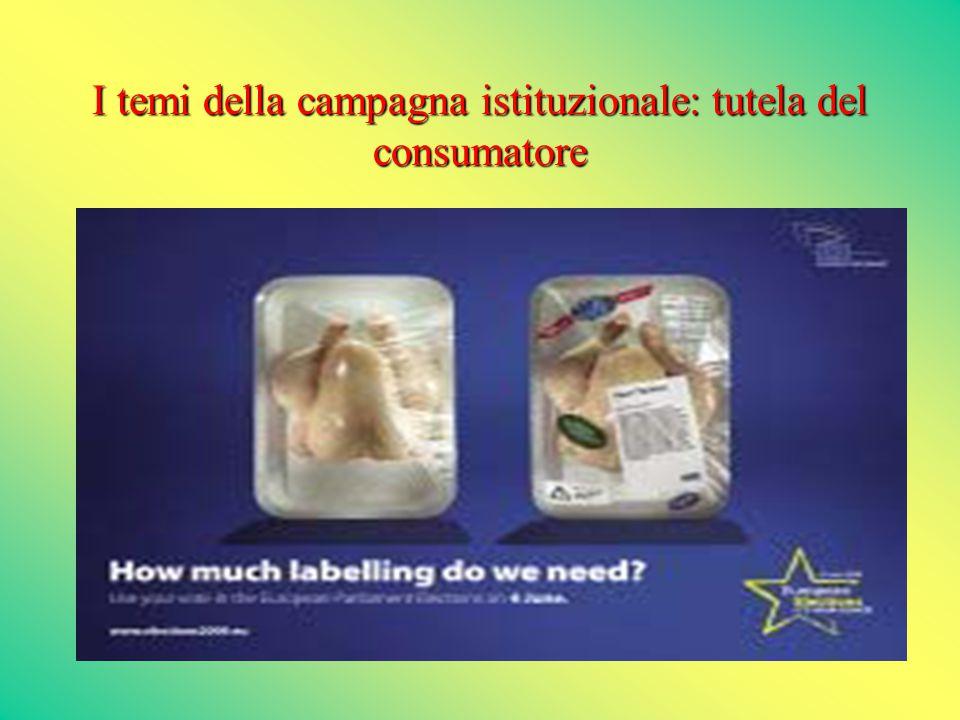 I temi della campagna istituzionale: tutela del consumatore