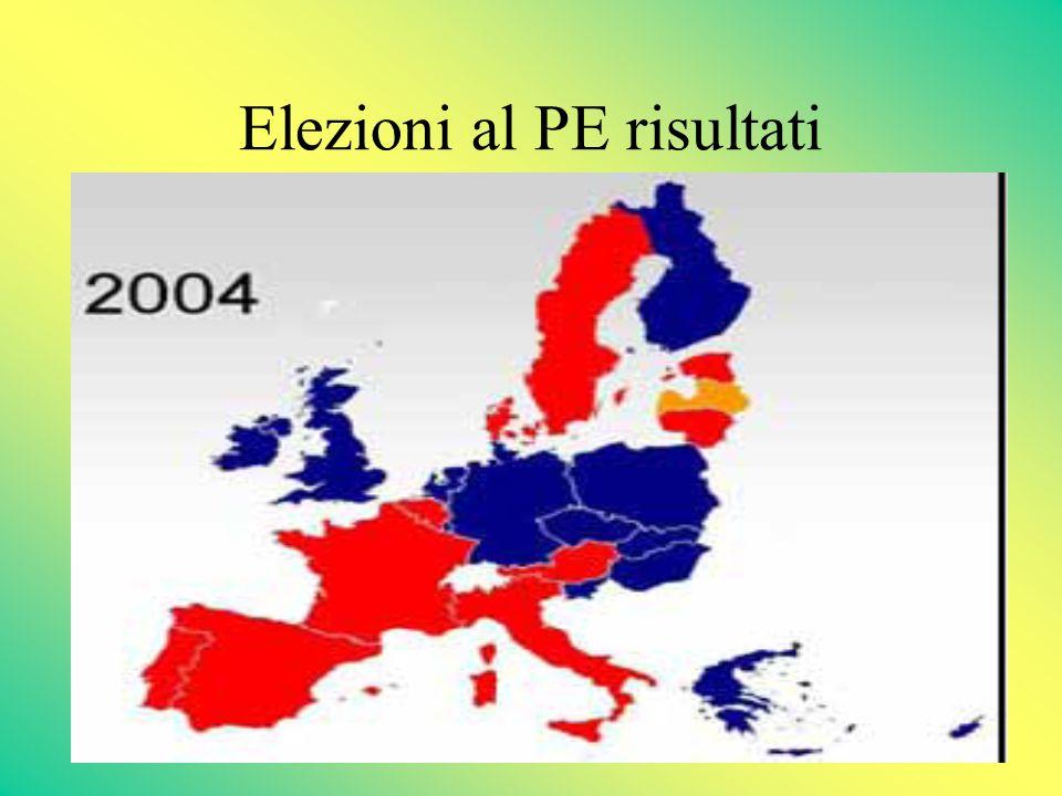 Elezioni al PE risultati