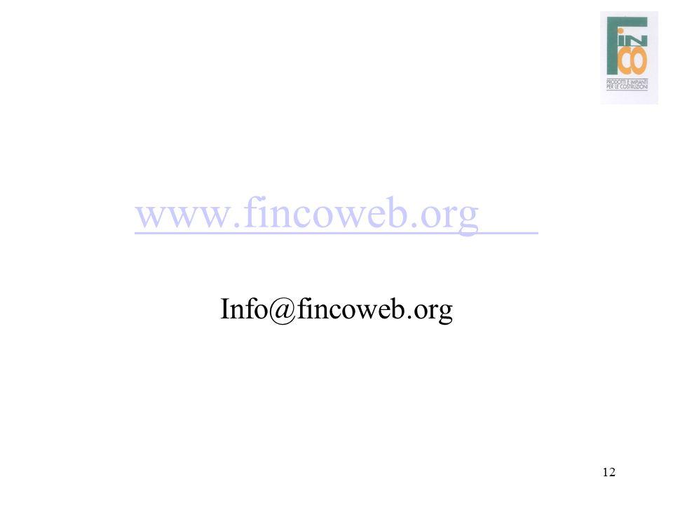 12 www.fincoweb.org Info@fincoweb.org