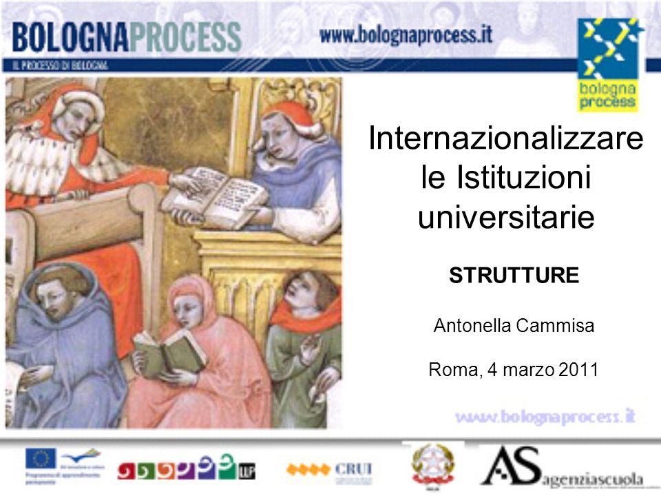 Internazionalizzare le Istituzioni universitarie STRUTTURE Antonella Cammisa Roma, 4 marzo 2011