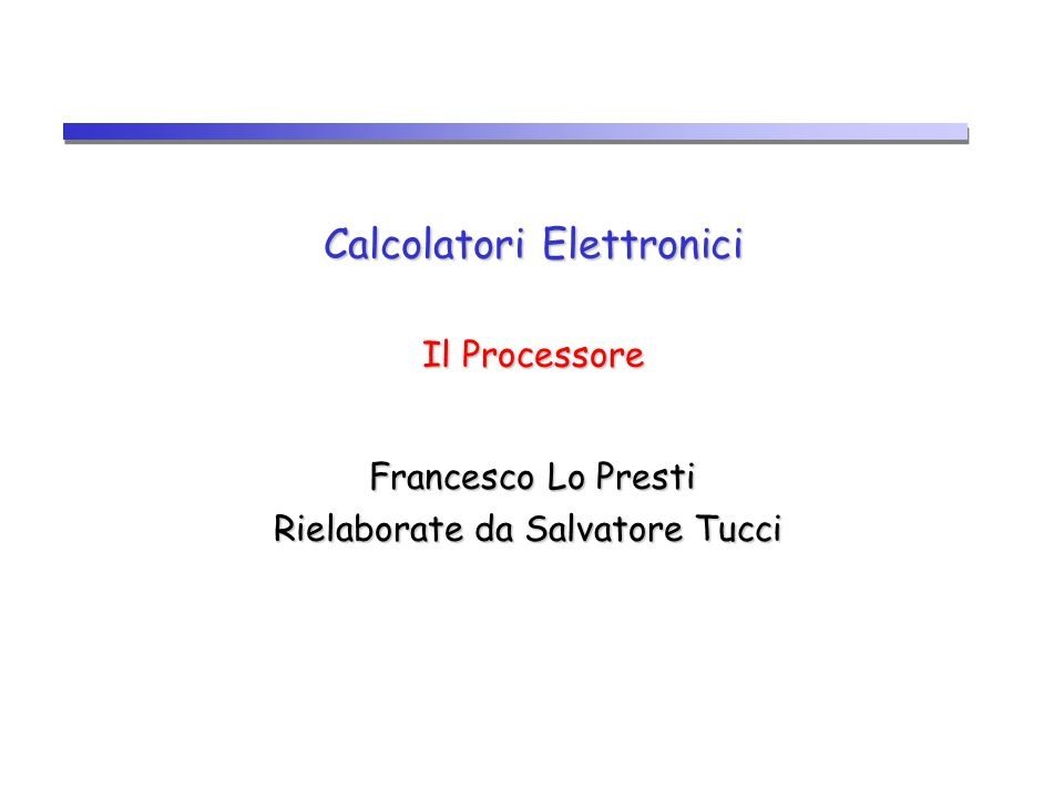 CPU12 Progettazione dell'unità di elaborazioni dati e prestazioni CPI IC T CLOCK  Le prestazioni di un calcolatore sono determinate da: Numero di istruzioni Instruction Count (IC) Instruction Count (IC) Durata del ciclo di clock (T CLOCK ) Cicli di clock per istruzione Clock cycle Per Instruction (CPI) Clock cycle Per Instruction (CPI)  La progettazione del processore (unità di elaborazione e unità di controllo) determina Durata del ciclo di clock Cicli di clock per istruzione (CPI)