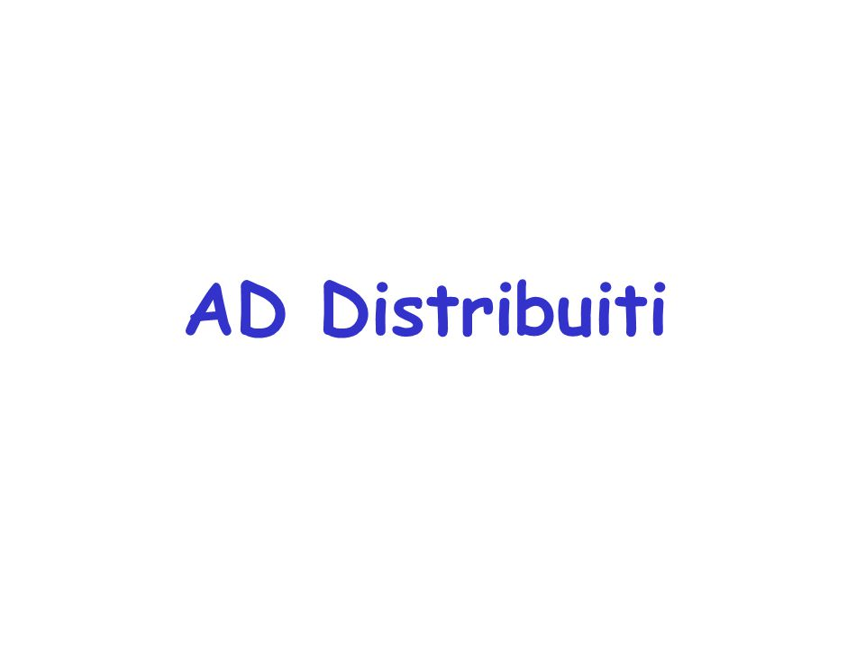 AD Distribuiti