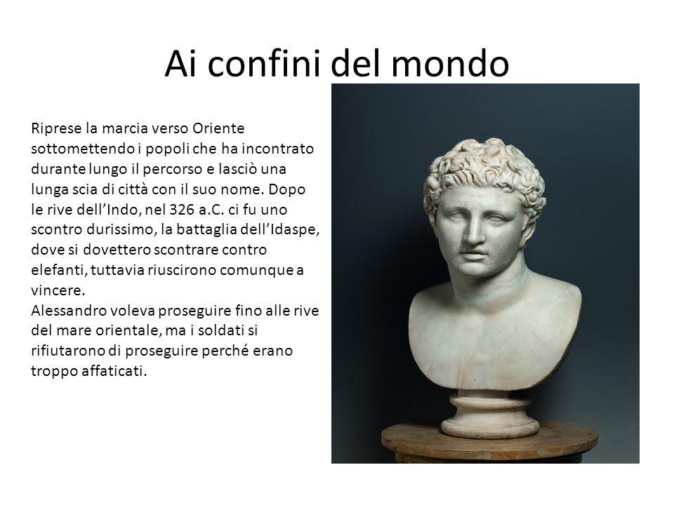 La fine di Alessandro Rientrato a Siracusa, Alessandro riprese il suo progetto di unire i greci e i persiani l'inizio era di sposare una figlia di Dario.