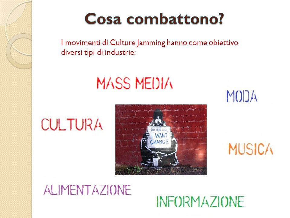 I movimenti di Culture Jamming hanno come obiettivo diversi tipi di industrie: