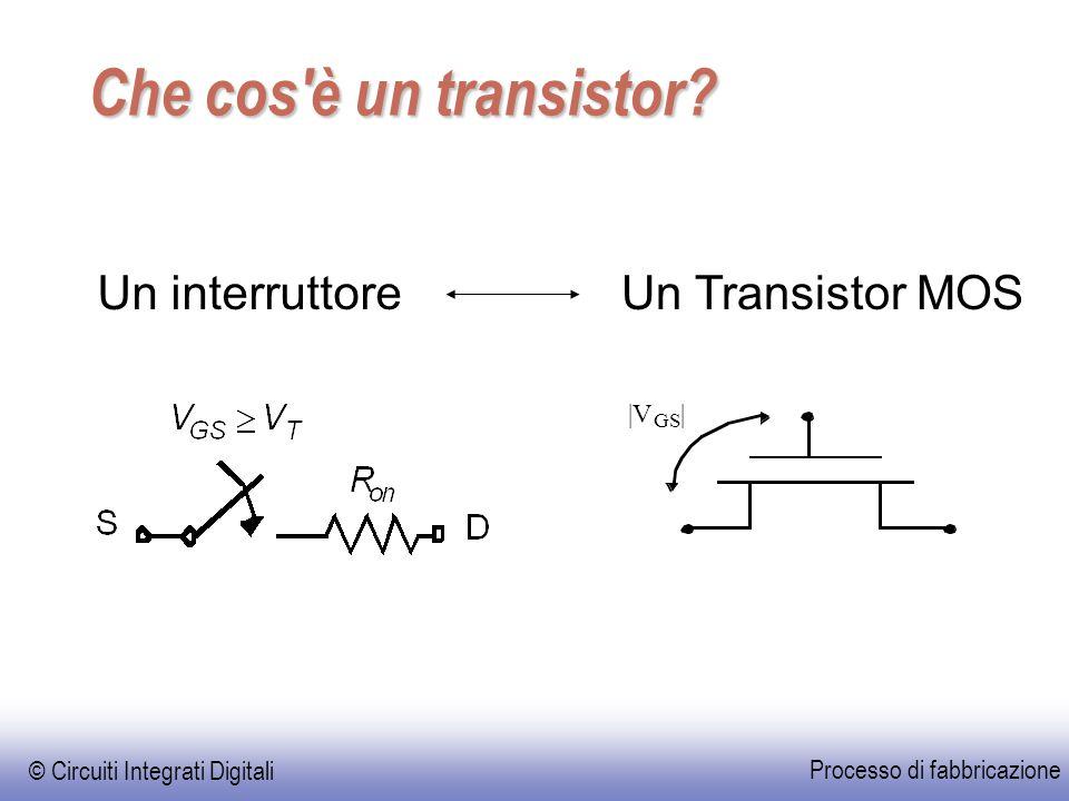 EE141 © Circuiti Integrati Digitali Processo di fabbricazione Che cos è un transistor.