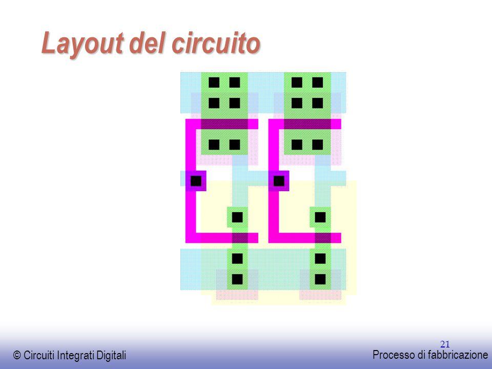 EE141 © Circuiti Integrati Digitali Processo di fabbricazione 21 Layout del circuito