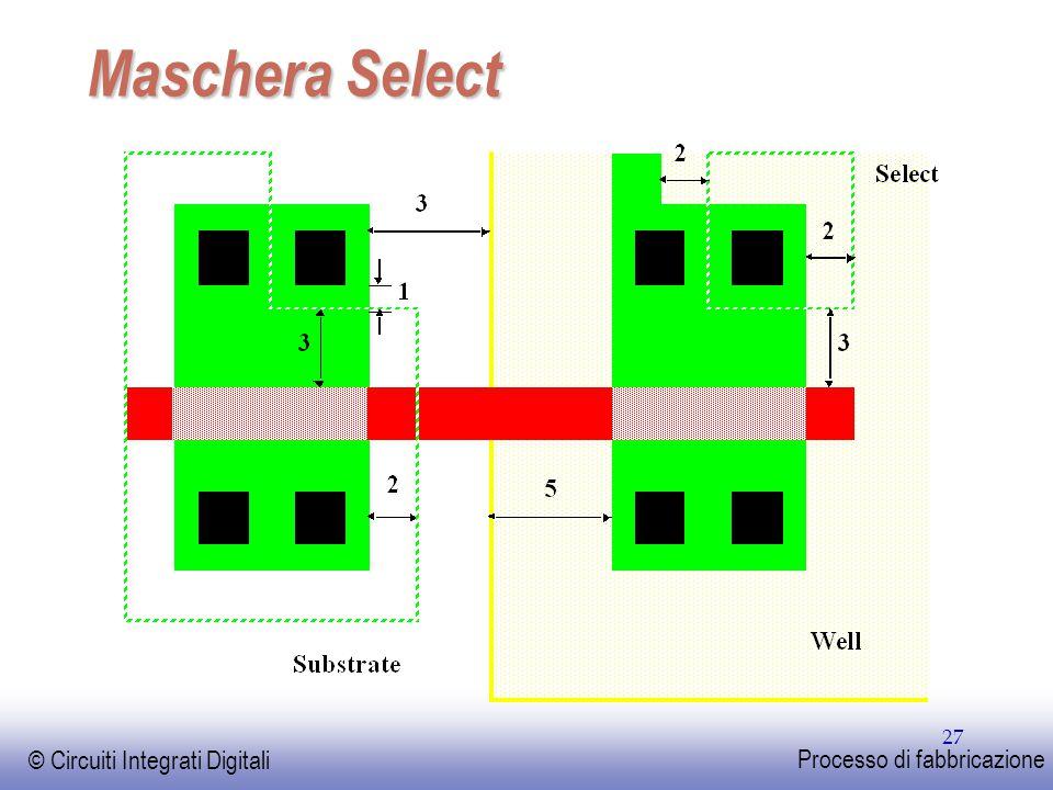EE141 © Circuiti Integrati Digitali Processo di fabbricazione 27 Maschera Select