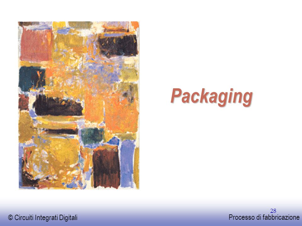 EE141 © Circuiti Integrati Digitali Processo di fabbricazione 28 Packaging