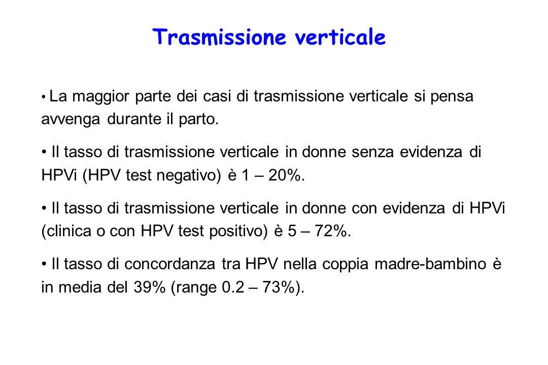 La maggior parte dei casi di trasmissione verticale si pensa avvenga durante il parto.