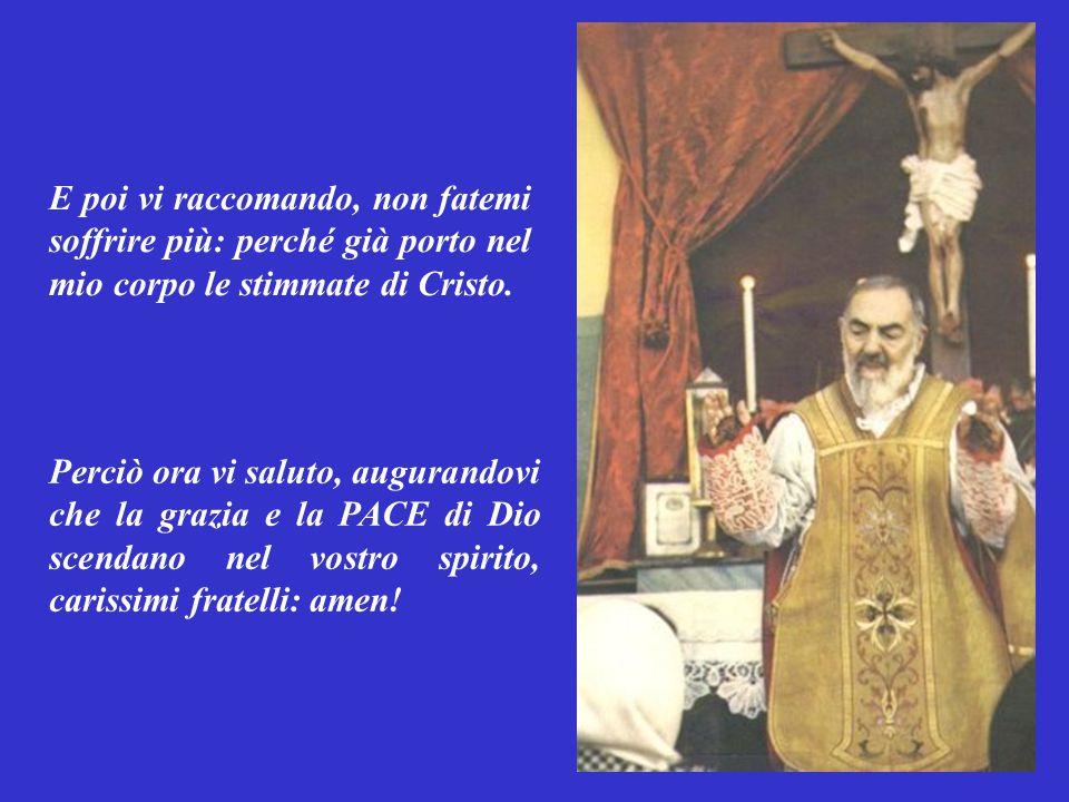Carissimi fratelli, io mi vanto solo di una cosa: della croce di Cristo .