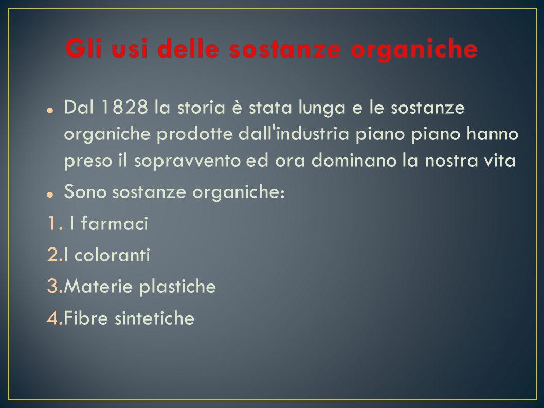 Dal 1828 la storia è stata lunga e le sostanze organiche prodotte dall'industria piano piano hanno preso il sopravvento ed ora dominano la nostra vita