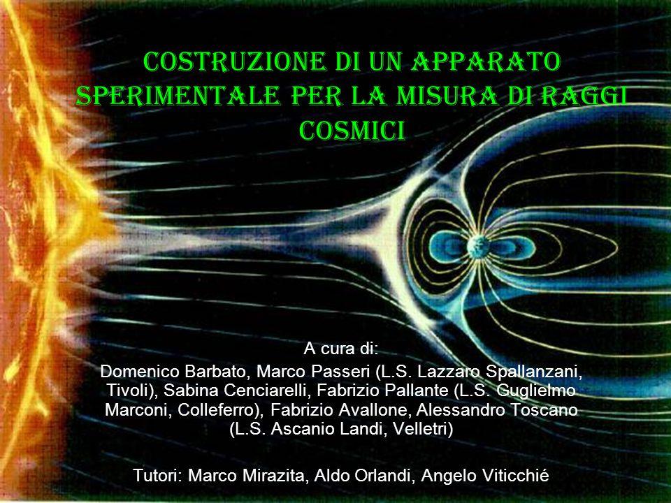 Costruzione di un apparato sperimentale per la misura di raggi cosmici A cura di: Domenico Barbato, Marco Passeri (L.S.