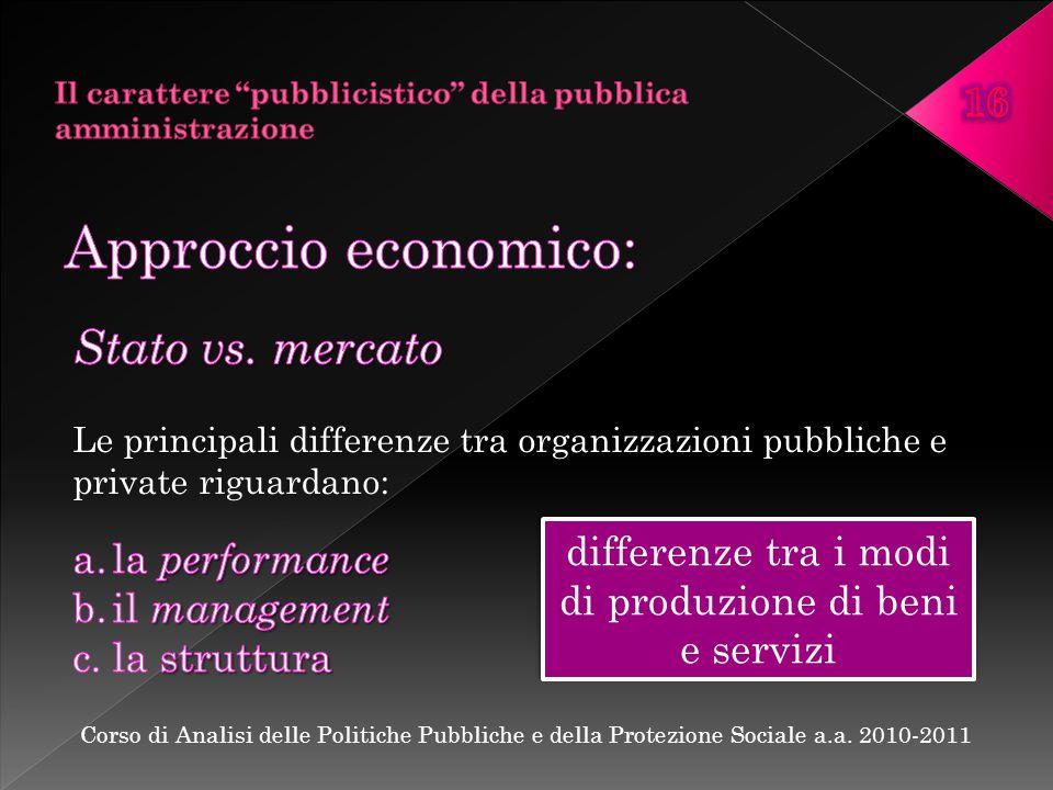 differenze tra i modi di produzione di beni e servizi