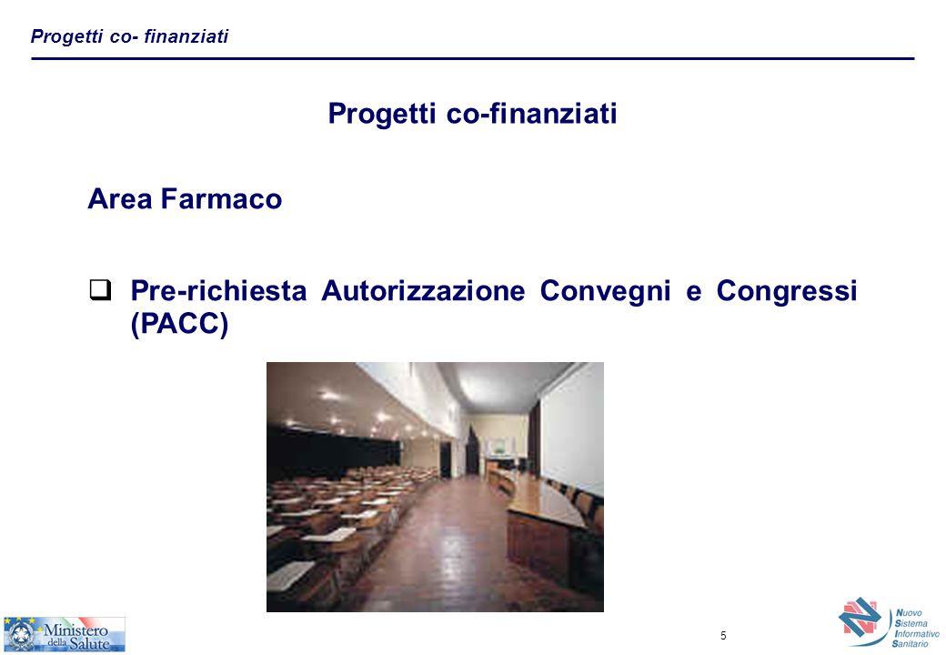 6 Pre-richiesta Autorizzazione Convegni e Congressi (PACC) Il servizio mette a disposizione delle segreterie organizzative servizi on- line per effettuare la richiesta di autorizzazione per Convegni e Congressi all'Agenzia del Farmaco(AIFA), come previsto dell'articolo 12 del Dec.