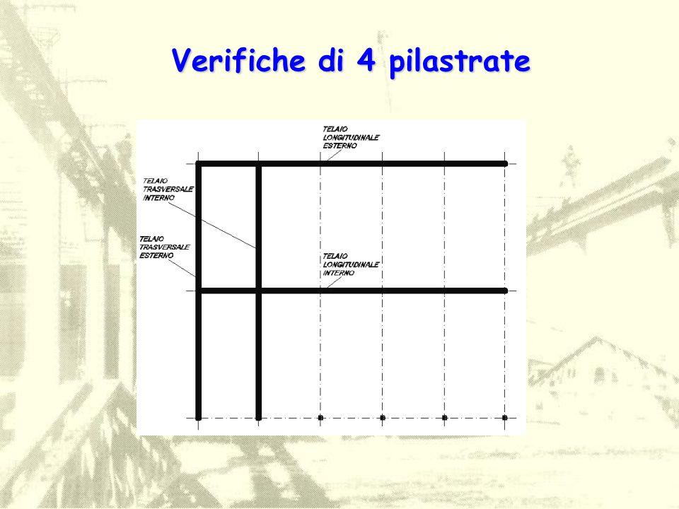 Verifiche di 4 pilastrate