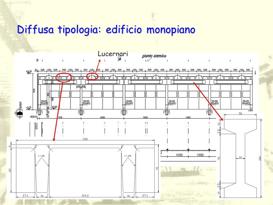 Diffusa tipologia: edificio monopiano Lucernari