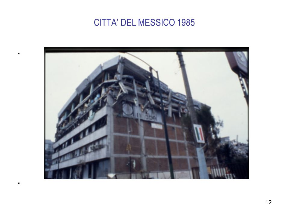 12 CITTA' DEL MESSICO 1985....