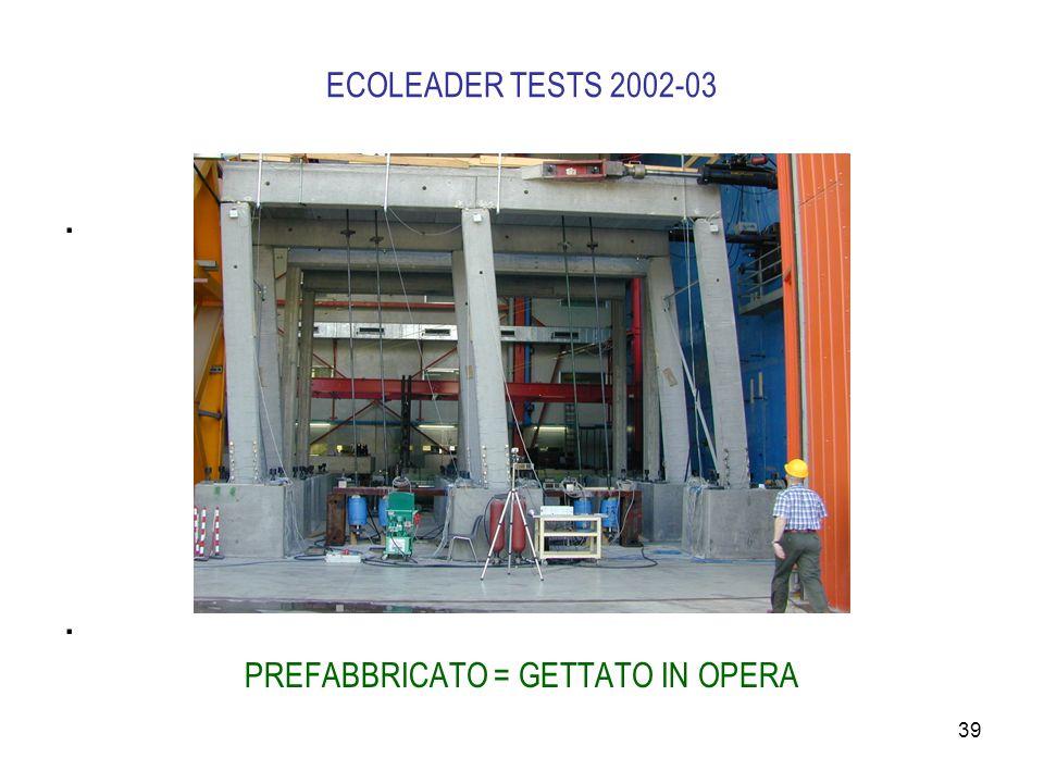 39 ECOLEADER TESTS 2002-03. PREFABBRICATO = GETTATO IN OPERA