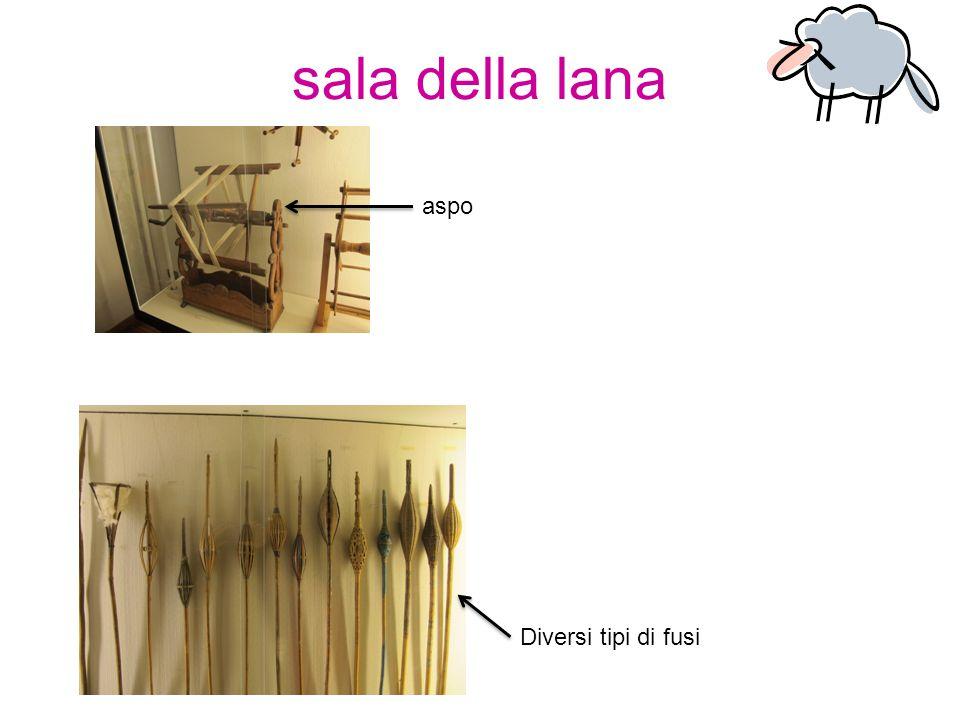 sala della lana Diversi tipi di fusi aspo