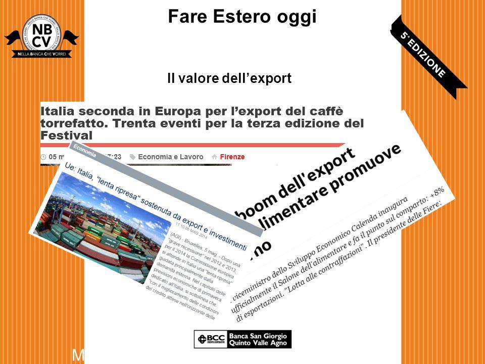 Il valore dell'export Maggio 2014 Fare Estero oggi
