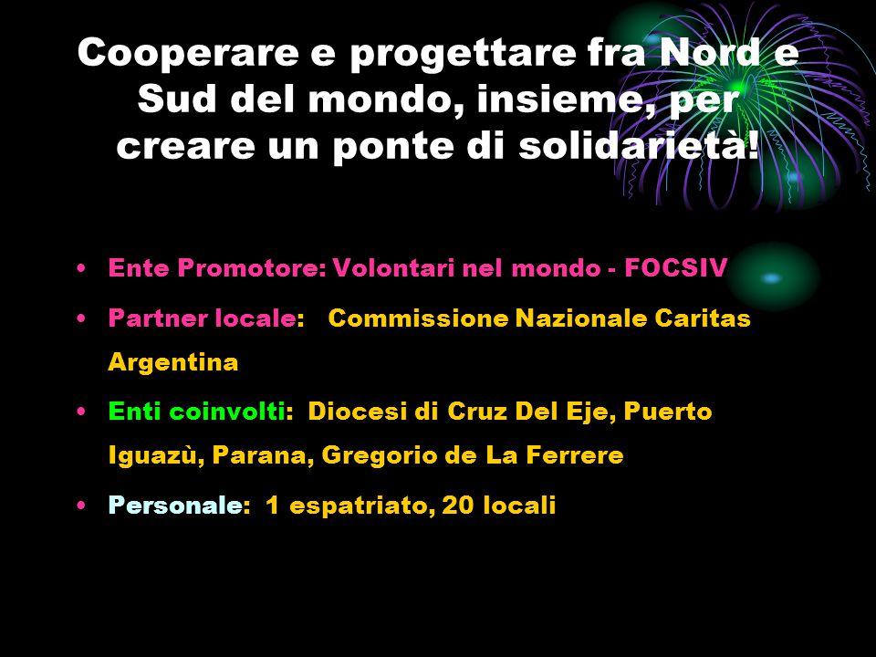 Cooperare e progettare fra Nord e Sud del mondo, insieme, per creare un ponte di solidarietà! Ente Promotore: Volontari nel mondo - FOCSIV Partner loc