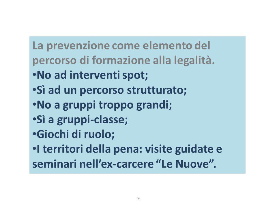 La prevenzione come elemento del percorso di formazione alla legalità.