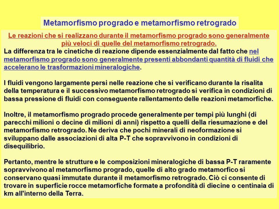 Tipi di metamorfismo Metamorfismo di fondo oceanico Il metamorfismo di fondo oceanico interessa le rocce che costituiscono i fondi degli oceani.