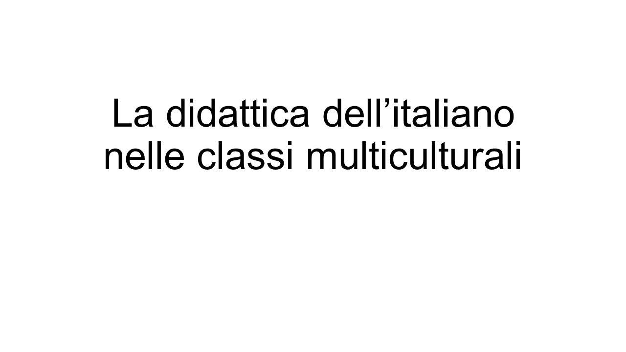 La didattica dell'italiano nelle classi multiculturali