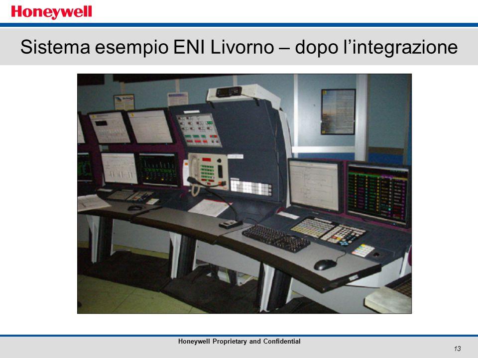 13 Honeywell Proprietary and Confidential Sistema esempio ENI Livorno – dopo l'integrazione