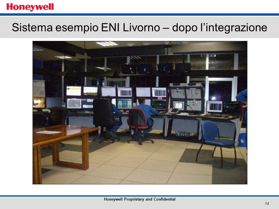 14 Honeywell Proprietary and Confidential Sistema esempio ENI Livorno – dopo l'integrazione
