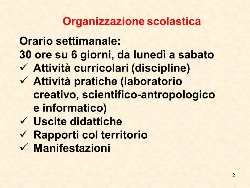 Organizzazione scolastica Clas si Docente prevalenteAltri docenti 1^Iolanda Perciato Loredana Di Giovanni Inglese Suor Agaçi - Musica F.